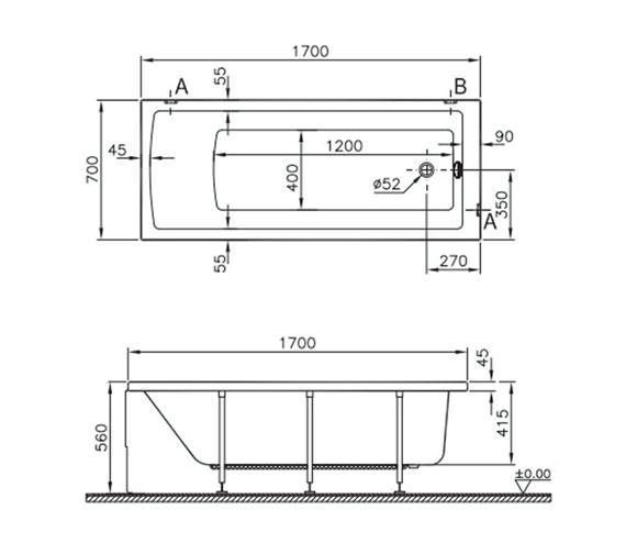 Technical drawing QS-V59763 / 52530001000