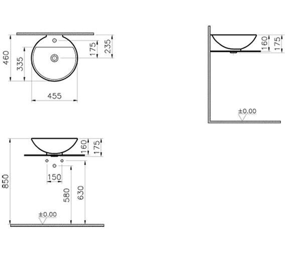 Technical drawing QS-V57842 / 6166B003-0001