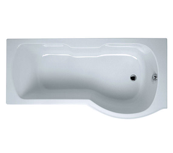VitrA Optima 1700 x 700mm Right Handed Shower Bath - 52420001000