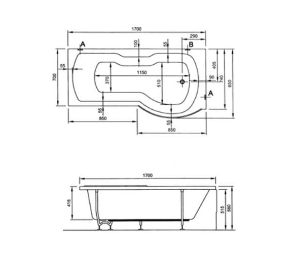 Technical drawing QS-V59767 / 52420001000