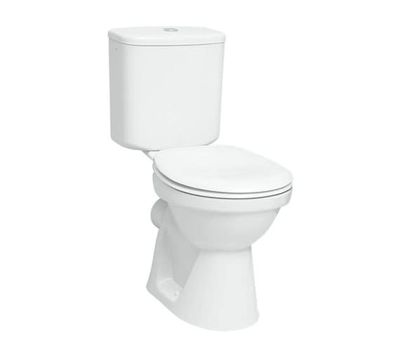 VitrA Milton 680mm Close Coupled WC Pan With Cistern And Seat