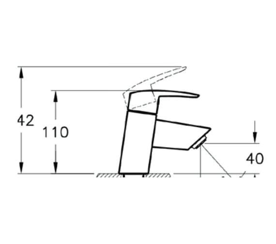 Technical drawing QS-V57905 / A40970VUK