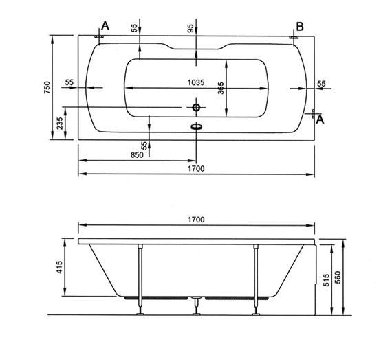 Technical drawing QS-V0023 / 52430001000