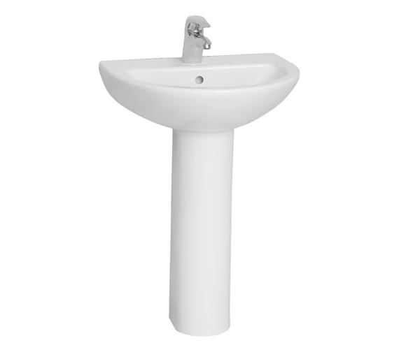VitrA Milton 57cm 1TH Basin With Full Pedestal