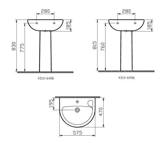 Technical drawing QS-V59820 / 4313L003-0999