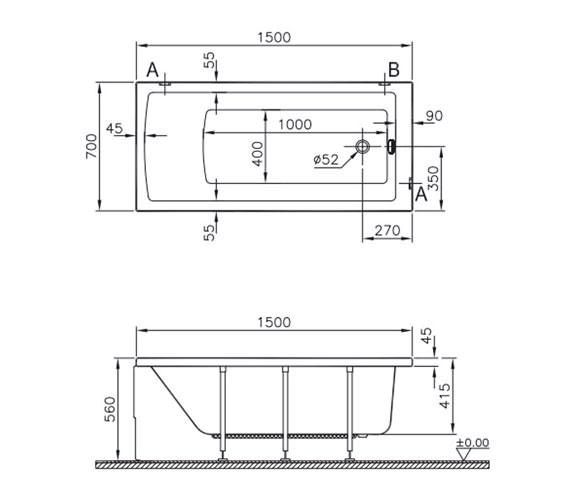 Technical drawing QS-V59765 / 52510001000