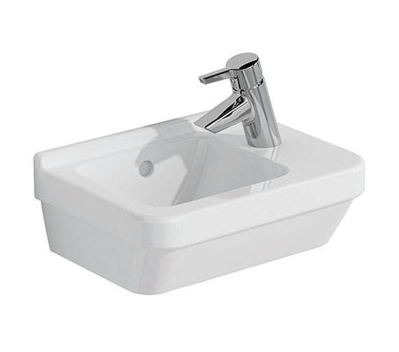 VitrA S50 Compact Basin 400 x 280mm Right Hand - 5343L003-0029
