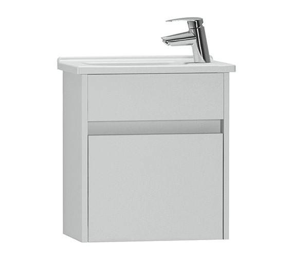 VitrA S50 High Gloss White 450mm Compact Washbasin Unit - 53031