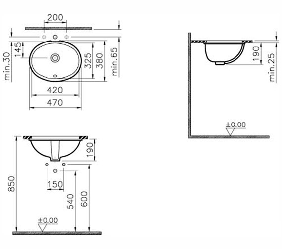 Technical drawing QS-V59809 / 6039B003-0012