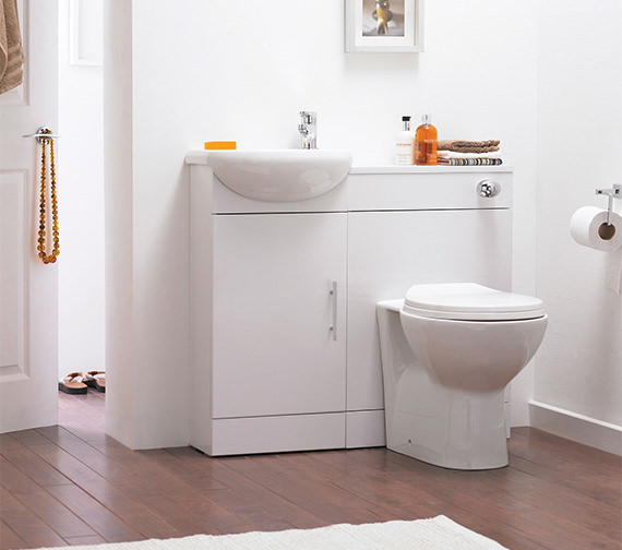 Nuie Premier Sienna Cloakroom Gloss White Furniture Pack
