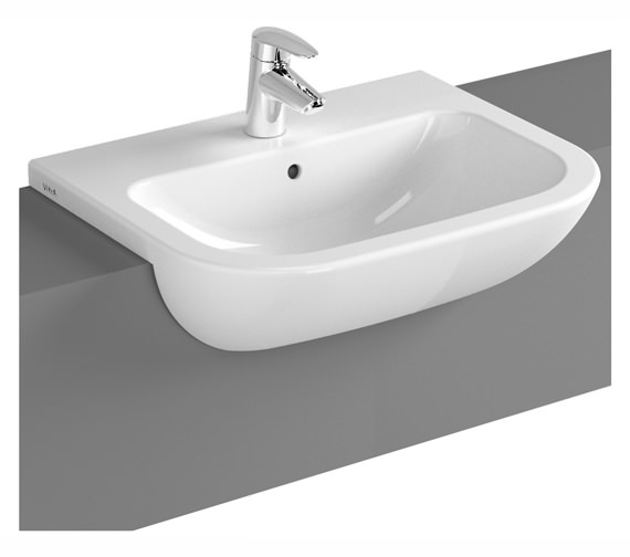 VitrA S20 550 x 440mm 1 Tap Hole Semi-Recessed Basin
