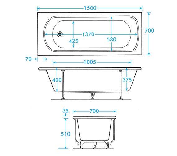 Technical drawing QS-V0008 / TD15BWH