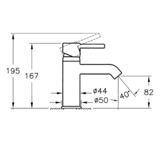 Technical drawing QS-V57886 / A41984VUK