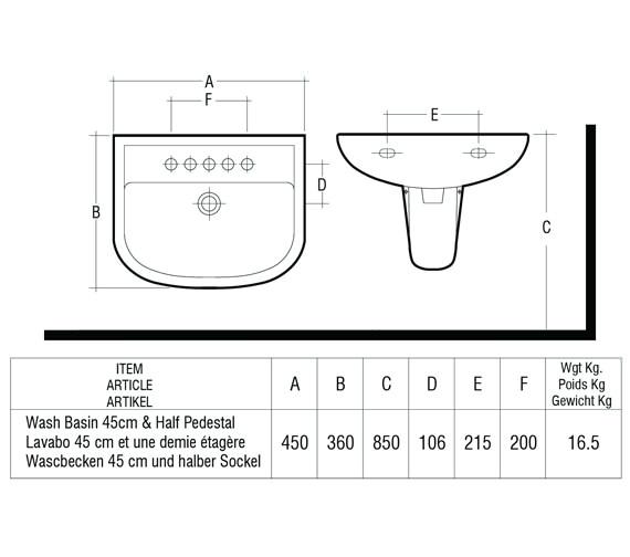 Technical drawing QS-V36327 / COM46BAS1