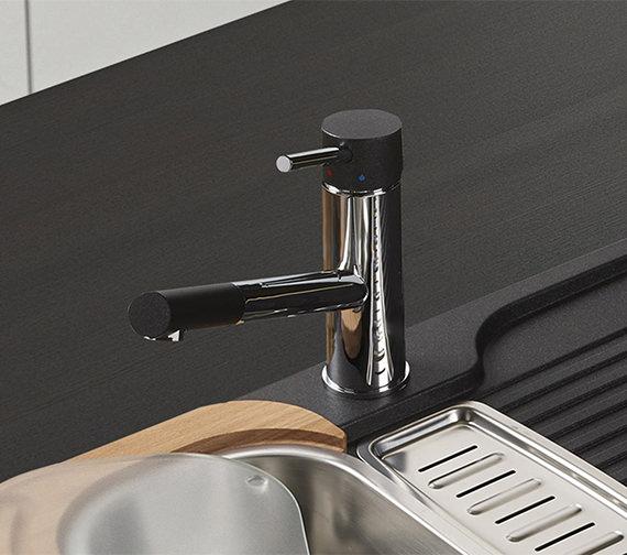 Alternate image of Astracast Ariel Monobloc Kitchen Sink Mixer Tap Chrome-Black