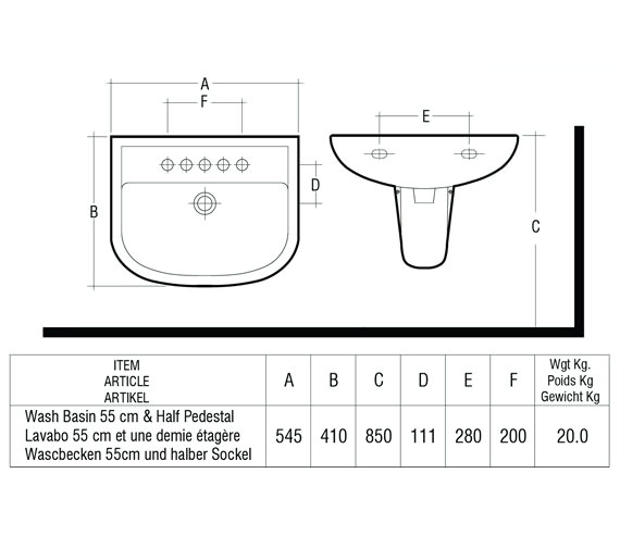 Technical drawing QS-V36331 / COM55BAS1
