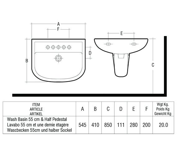 Technical drawing QS-V36331 / COM55BAS1