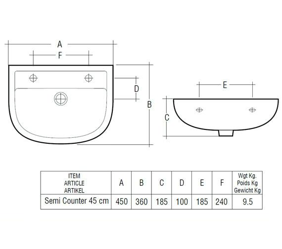 Technical drawing QS-V36332 / COM45SR1LH