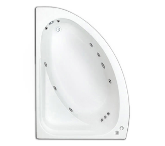 Trojan Orlando LH 11 Jets Whirlpool Corner Bath With Panel 1495 x 1020mm