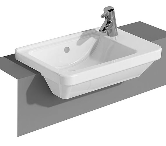 VitrA S50 Compact Semi Recessed Basin Right Hand - 5340B003-0029