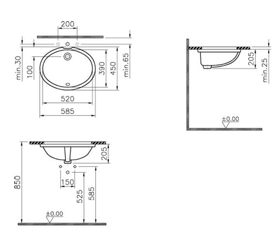 Technical drawing QS-V59810 / 6069B003-0012
