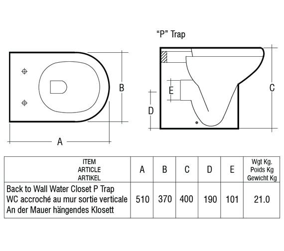 Technical drawing QS-V36339 / COMBTWPAN/SC