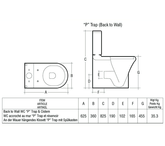 Technical drawing QS-V40347 / COMPAK45SC