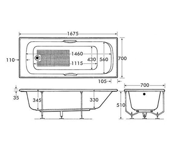 Technical drawing QS-V34218 / B1206