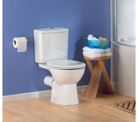 VitrA Layton Close Coupled WC Pan With Cistern And Soft Close Toilet Seat