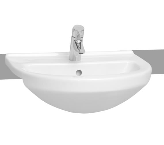 VitrA S50 550 x 450mm Round Semi Recessed Basin