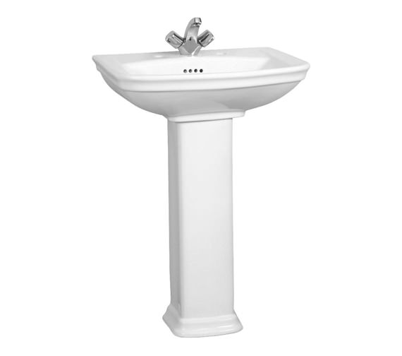 VitrA Serenada 1TH Washbasin 60cm With Full Pedestal - 4167B003-0999