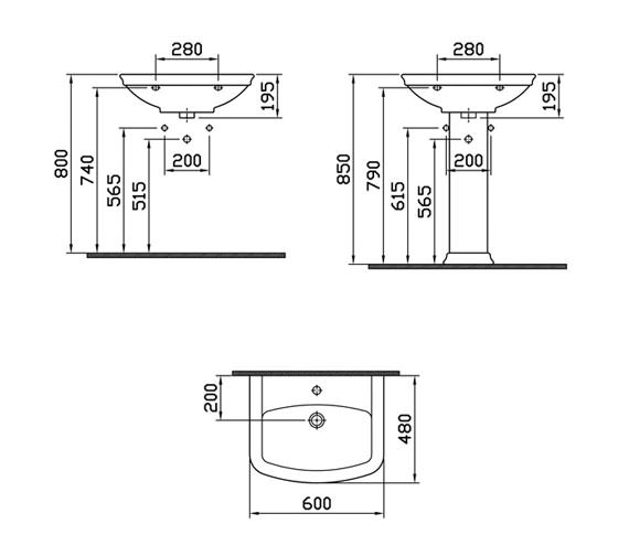 Technical drawing QS-V59738 / 4167B003-0999