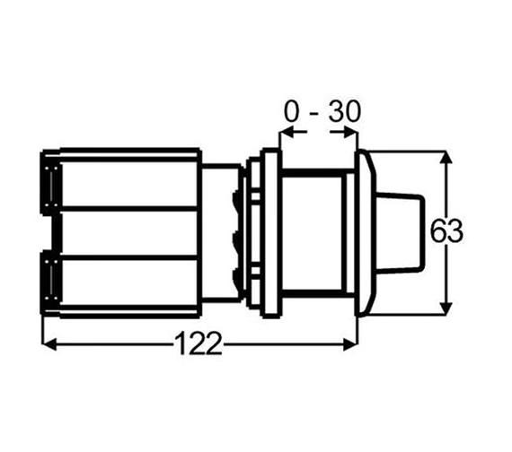 Technical drawing QS-V51900 / 115.949.21.1