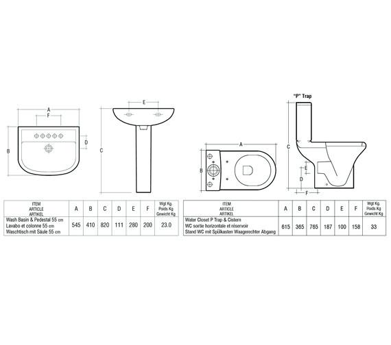 Technical drawing QS-V36350 / COM55BAS1