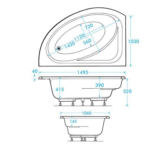 Technical drawing QS-V59903 / AB0598