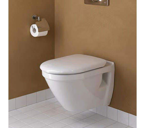VitrA S50 Wall-Hung 520mm WC Pan With Seat