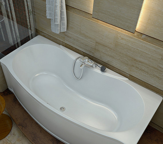 Trojan Lucina Double Ended Bow Fronted Bath 1700 X 800 650mm
