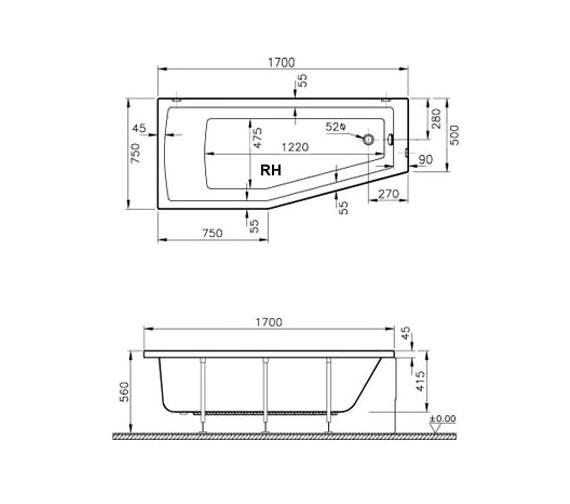 Technical drawing QS-V59759 / 52760001000
