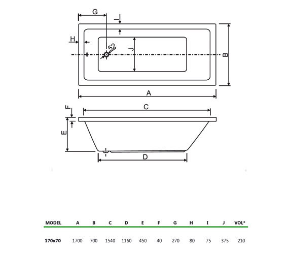 Technical drawing QS-V980003 / 154PLASOLO1770