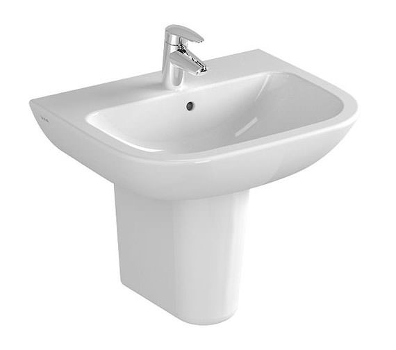 Vitra S20 500mm Wide 1 Tap Hole Cloakroom Basin 5501l003