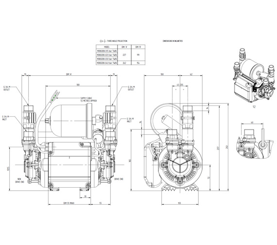 Technical drawing QS-V72892 / 46411