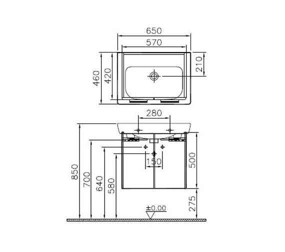 Technical drawing QS-V79465 / 54783