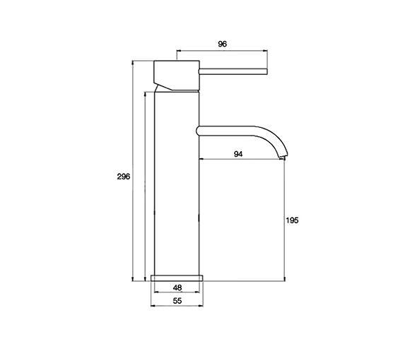 Technical drawing QS-V55806 / RDL029