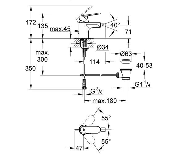Technical drawing QS-V58258 / 32839000