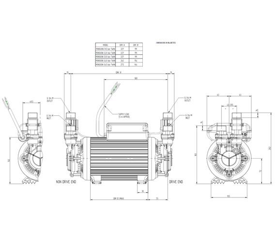 Technical drawing QS-V72901 / 46418