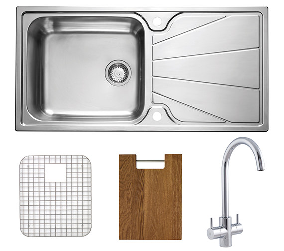 Astracast Korona 1.0 Bowl Polished Stainless Steel Inset Sink And Tap Pack