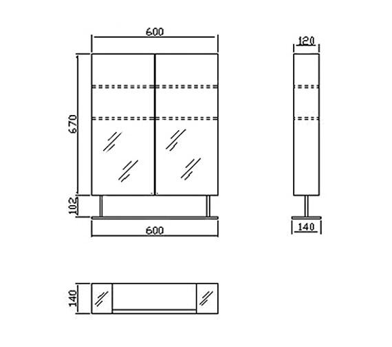 Technical drawing QS-V38571 / LQ316