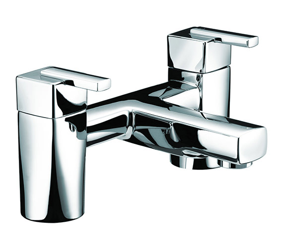 Bristan Qube Bath Filler Mixer Tap Chrome - QU BF C