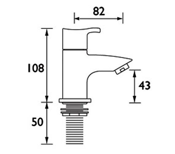 Technical drawing QS-V51044 / CAP 3/4 C
