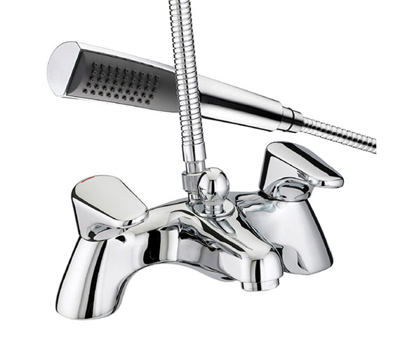 Bristan Jute Pillar Bath Shower Mixer Tap - JU PBSM C